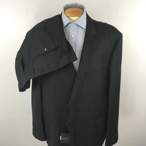 Laurentino mens suit solid charcoal 52r nwt ea0264
